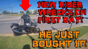 New Rider Wrecks Way Home From Dealer I Ride A Harley