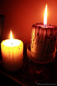 Halloween Flameless Taper Candles by Happy Thoughts U0026 Forget Me Nots Diy Ghoulishly Ghastly Dripping