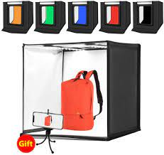104 Studio Tent Professional Integrated Online Shopping Mall 60w Photo Light Box Portable Light Mini Photography Kit With Adjustable Brightness 2 Led Lighting 1690lm And 6 Colors Backdrops 60 X
