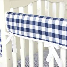 Brett s Navy Gingham Baby Bedding