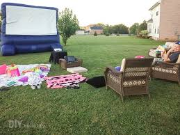 Birthday Party For Tween Girl With Outdoor Movie