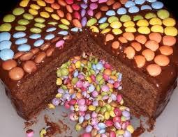 regenbogen schoko torte rezept rezept smarties kuchen