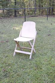 100 Folding Chair Art Vintage Wooden American Seating Co White Chippy Paint