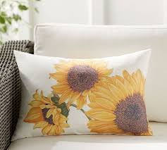 Pottery Barn Decorative Pillow Inserts by Botanical Sunflower Indoor Outdoor Lumbar Pillow Pottery Barn