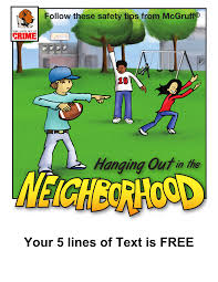 Neighborhood Safety Coloring Book