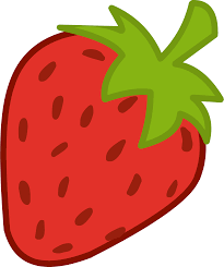 Cartoon strawberry clipart kid