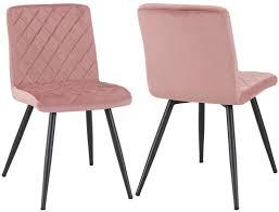 duhome esszimmerstuhl aus stoff farbe pink material samt