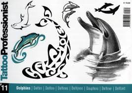 From The Publishers Of Idea Tattoo And Colour Comes This Spiral Bound Book Flash Featuring A Wide Variety Dolphin Designs In