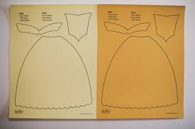 Cinderella Rapunzel Dress Cutout PDF · 8 5 x 11 inch paper dress template for Belle from Disney s Beauty and the Beast