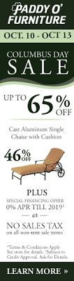 Paddy O Furniture Columbus Day Tent Sale