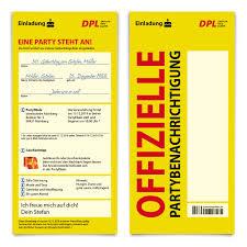 Witzige Geburtstag Einladungskarten Als Paket Benachrichtigungskarte