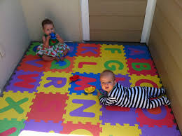 Foam Floor Mats Baby by Sweetening The Small Stuff Baby Proof The Patio With Foam Abc Mats