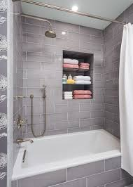 jeffrey court tile bathroom transitional with 3 wall alcove tub