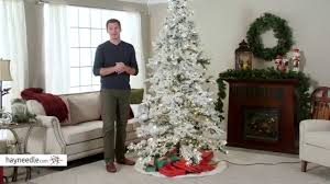 75 Slim Flocked Christmas Tree by 7 5 Ft Heavy Flocked Layered Pre Lit Spruce Christmas Tree