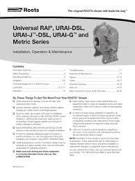 Dresser Roots Blower Distributor by Urai Man Isrb 2002 Pdf Belt Mechanical Bearing Mechanical