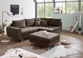 ecksofa inkl hocker 249x175 cm braun grau günstig möbel küchen büromöbel kaufen froschkönig24