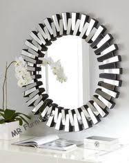 runder moderner spiegel der wand 3d für wohnzimmer silber