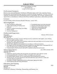 Best Pharmacist Resume Example LiveCareer Samples Printable