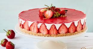 Hochzeitstorte Mit Erdbeeren Und Limetten Erdbeer Frischkäse Torte Mit Keksboden