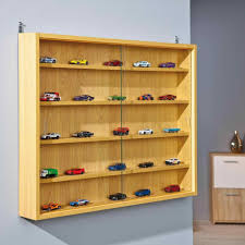 Retail Cabinets Floor Standing Decoration Acrylic Wall Display Case Glass Diecast Cars