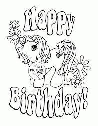 My Little Pony Happy Birthday Coloring Page For Kids Holiday Pages Printables Free