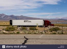 100 Crowley Trucking A Prime Inc Big Rig Truck Traveling South On Highway 395 With