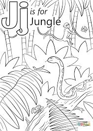 huruf j adalah untuk halaman mewarnai hutan halaman