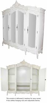 French Chateau White Painted 4 Door Mirrored Armoire | DECOR ... Bedroom Antique Pine Wardrobe Vintage Corner Wardrobe White French Armoire Old Style Fabulous Painted Antique Armoire Cupboard With French And Wardrobes Abolishrmcom Beautiful Portable Provencal Carved Single Door Mirrored Bedroom Loving This Flair Display Cabinet Couture Fniture Is An Inspiration Shabby Chic Armoires
