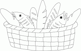 Miracles Of Jesus Coloring Pages 61046 5 Loaves And 2 Fish