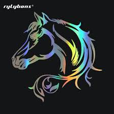 Rylybons 1 PCS 20*20CM Car Styling Decals Horse Head Beautiful ... Details About Horse Vinyl Car Sticker Decal Window Laptop Oracal Medieval Knight Jousting Lance Horse Decals Accsories For Car Vinyl Sticker Animal Stickers Made By Stallion Tribal Decal J373 Products Graphics For Trailers I Love My Arabianhorse Vehicle Or Trailer Country Cutie With A Rock N Roll Booty Southern Brand New Carfloat Tack Box 4wd Wall Stickers Wall 23 Decals Laptop Cowgirl And Horse Cartoon Motorcycle Fashion