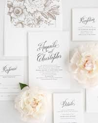 Wedding Invitation Package With Earth Envelope Liner Rustic Modern Invitations