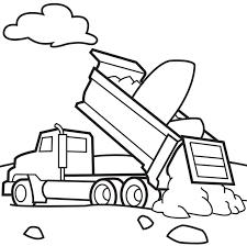 Dump Trucks Coloring Page