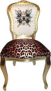 pompöös by casa padrino luxus barock esszimmerstühle glitzerkrone engelsflügel leopard weiß gold 50 x 60 x h 104 cm pompööse barock stühle