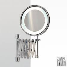 windisch chrome brass magnifying wall mounted vanity mirror