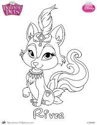 Free Princess Palace Pets Coloring Page Of River