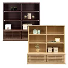 Rack Shelf Completed Width 100 Cm Low Type Natural Brown Wooden Japanese Style Living Storage Furniture Ornament