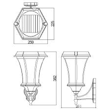 Solamon Wall Light Line Drawing2