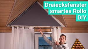 diy smarte verdunklung für dreiecksfenster mit dem ikea fyrtur rollo