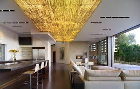 concrete ceiling light living room contemporary with glass door