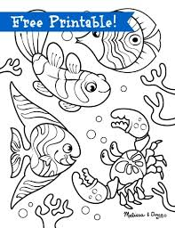 Underwater Scene Printables Hors Of Fun With Children Via Melssa Doug Fish