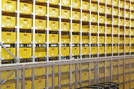 Download Yellow Crates Warehouse Stock Image Of Boxes Logistic