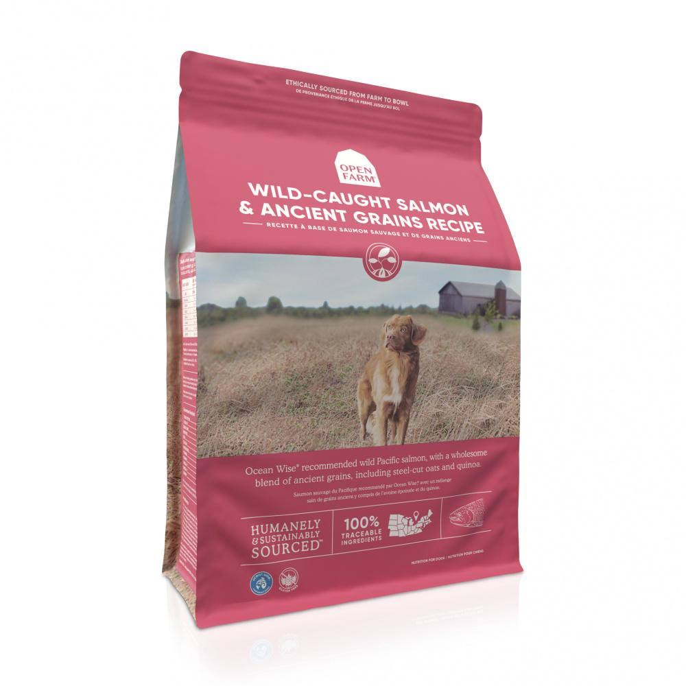 Open Farm Wild Caught Salmon & Ancient Grains Dry Dog Food 11-lb