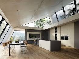 cr r un ilot central cuisine cuisine bois blanc magnifique cuisine béton armoires encastrées ilot