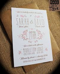 Wedding Invites Rustic Stationery Invitations Brown Floral Pink Design Supplies Colorful Weddings