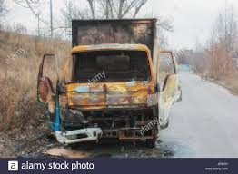 100 Burnt Truck Small Burnt Truck Abandoned Along The Road Stock Photo 151271905