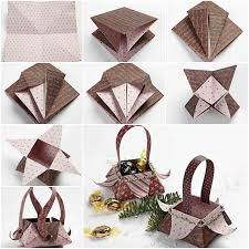 Origami Paper Basket Folding Tutorial Step By