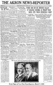 The First Issue Of Combined Papers Akron News Reporter Was Published On March 7 1929
