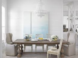 Farmhouse Dining Room Ideas Beach Style With Gray Wingback Chair Table Tongue And Groove Wall Paneling