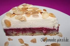 recette de gâteau entremets framboises mascarpone et amandes la