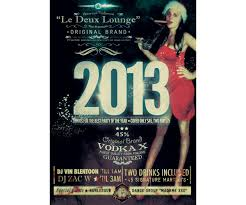 New Year Party Flyer Vintage Style Music Event Poster Template
